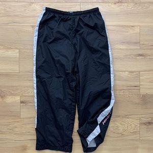 🔵 Early 2000s Spellout Nylon Sweatpants (Sz S)